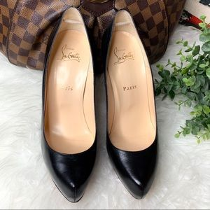 Christian Louboutin Shoes - Christian Louboutin Rolando 120 KID Black Heels